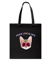 Peace Love And Cats Tote Bag thumbnail