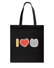 I Love Cats Tote Bag back