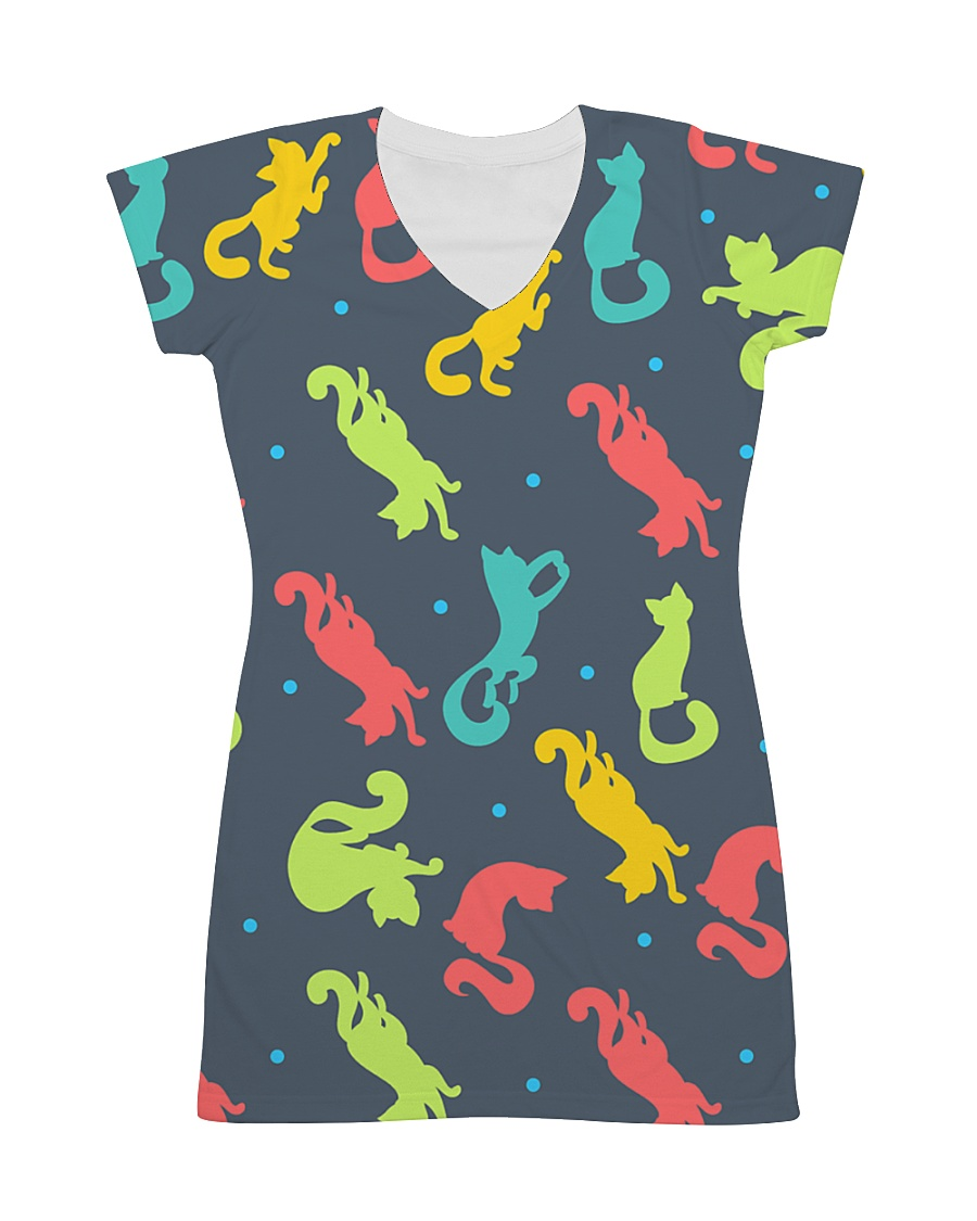 All Those Cats All-over Dress