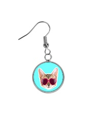 Cool Cat Circle Earrings thumbnail