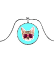 Cool Cat Metallic Circle Necklace thumbnail