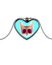 Cool Cat Metallic Heart Necklace thumbnail