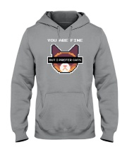 I Prefer Cats Hooded Sweatshirt thumbnail