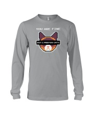 I Prefer Cats Long Sleeve Tee tile