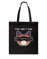I Prefer Cats Tote Bag tile