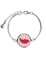 Watermelon Pattern Metallic Circle Bracelet thumbnail