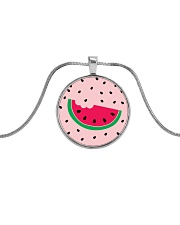 Watermelon Pattern Metallic Circle Necklace thumbnail