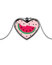 Watermelon Pattern Metallic Heart Necklace thumbnail