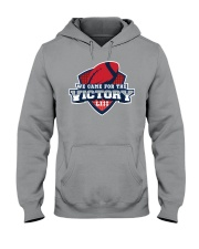 We Came for the Victory Red Hooded Sweatshirt thumbnail