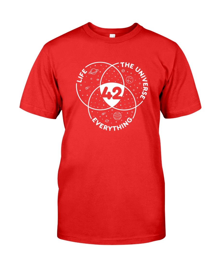 Life The Universe Everything 42 Premium Fit Mens Tee