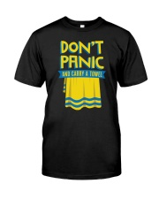 Don't Panic And Carry A Towel Classic T-Shirt front