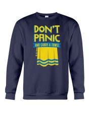 Don't Panic And Carry A Towel Crewneck Sweatshirt thumbnail