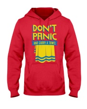 Don't Panic And Carry A Towel Hooded Sweatshirt thumbnail
