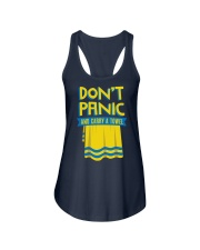 Don't Panic And Carry A Towel Ladies Flowy Tank thumbnail