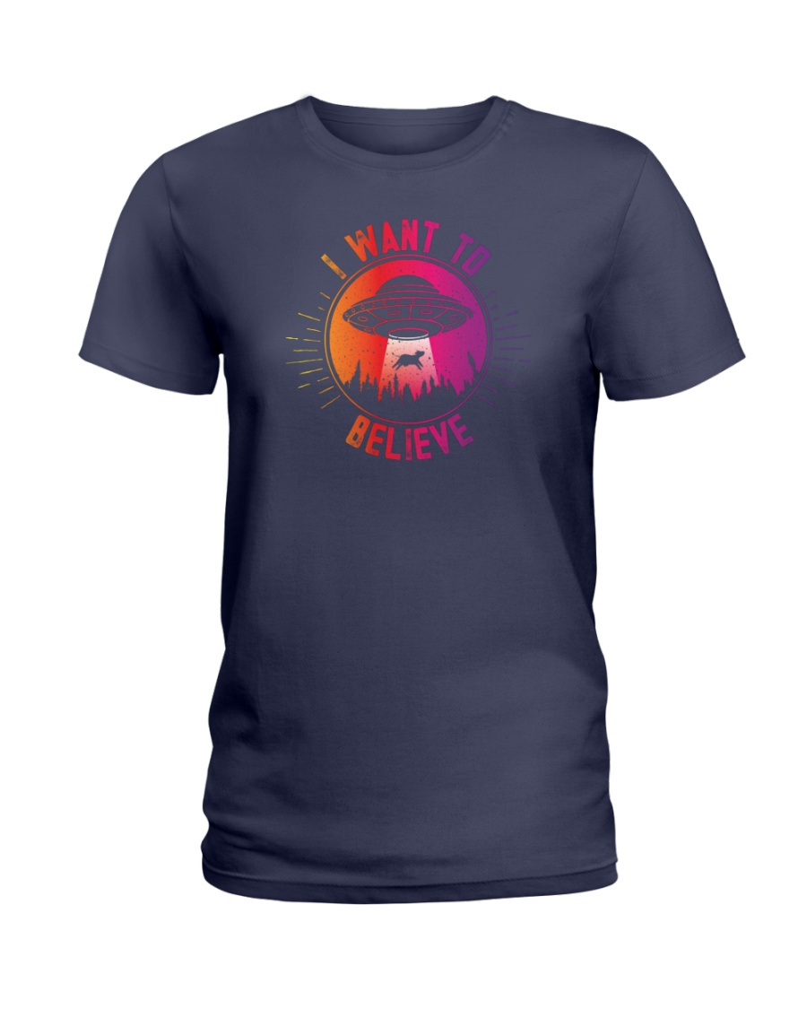 I Want To Believe Ladies T-Shirt