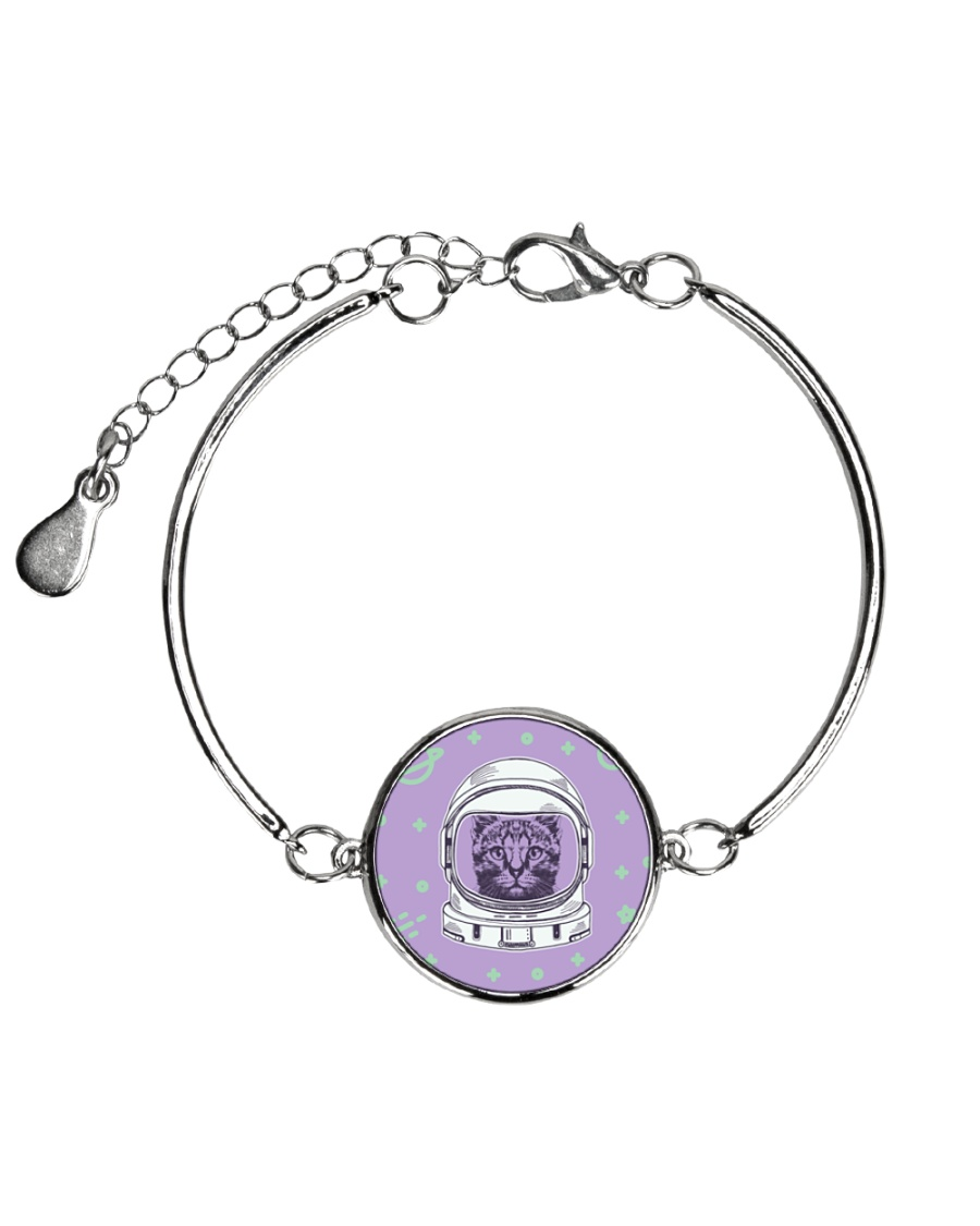 Catstronaut Metallic Circle Bracelet