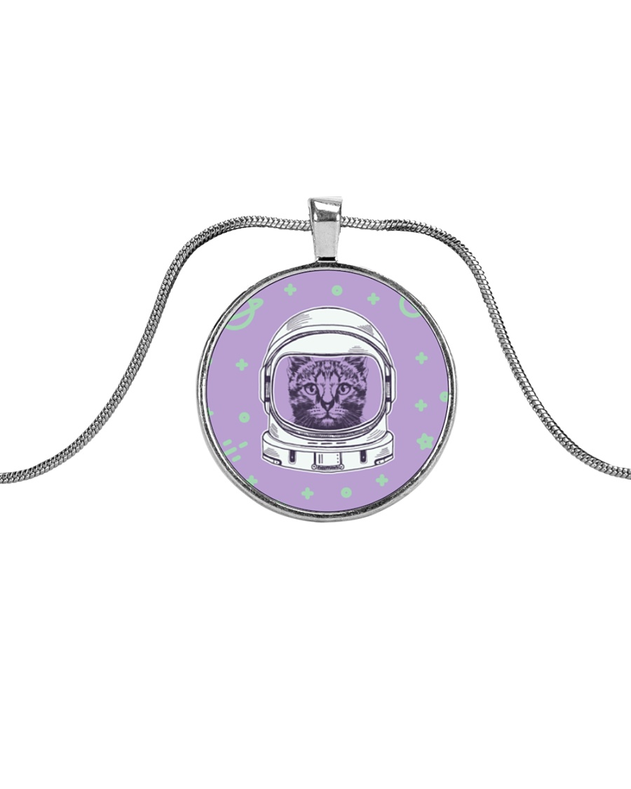 Catstronaut Metallic Circle Necklace