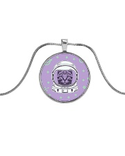 Catstronaut Metallic Circle Necklace front