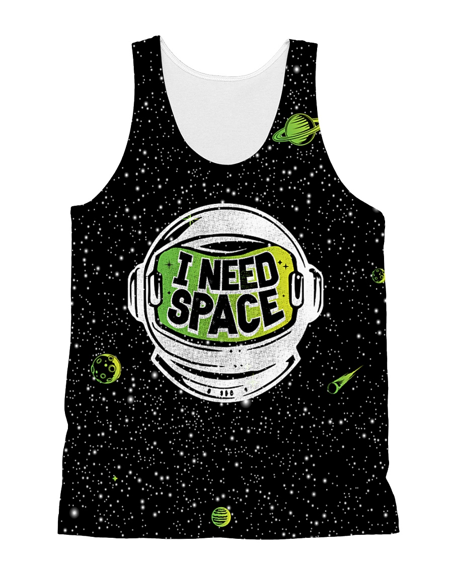 I Need Space All-over Unisex Tank