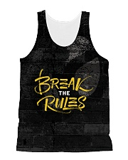 Break The Rules All-over Unisex Tank front