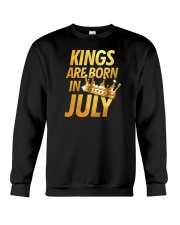 Kings Are Born in July Crewneck Sweatshirt thumbnail