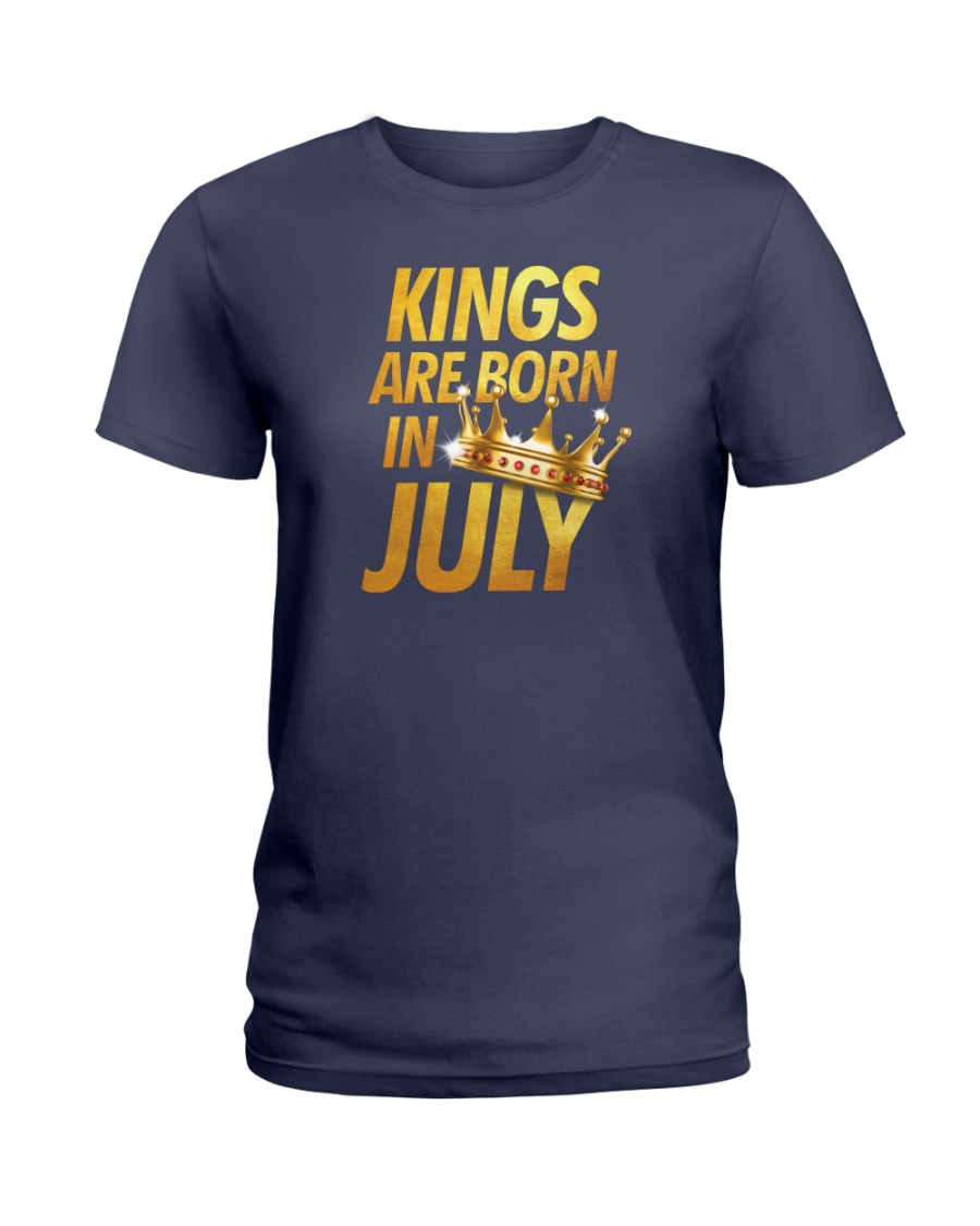 Kings Are Born in July Ladies T-Shirt