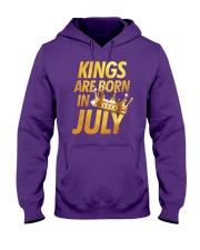 Kings Are Born in July Hooded Sweatshirt thumbnail