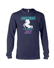 Unicorns Are Born in July Long Sleeve Tee thumbnail