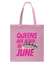 Queens Are Born in June Tote Bag thumbnail