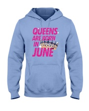 Queens Are Born in June Hooded Sweatshirt thumbnail