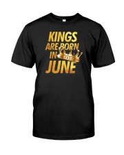 Kings Are Born in June Classic T-Shirt front