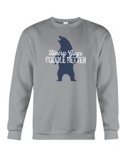 Hairy Guys Cuddle Better Crewneck Sweatshirt thumbnail