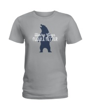 Hairy Guys Cuddle Better Ladies T-Shirt thumbnail