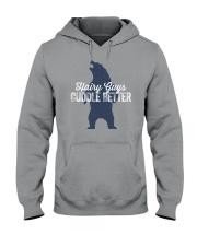 Hairy Guys Cuddle Better Hooded Sweatshirt thumbnail