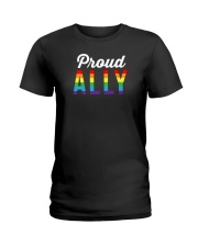 Proud Ally Ladies T-Shirt thumbnail