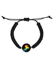 Unicorn Pattern Cord Circle Bracelet thumbnail