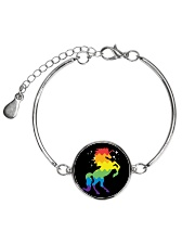 Unicorn Pattern Metallic Circle Bracelet thumbnail