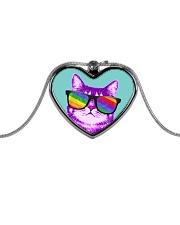Purride Pattern Metallic Heart Necklace thumbnail
