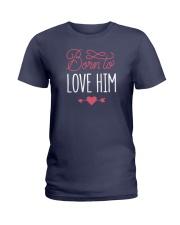 Born To Love Him Ladies T-Shirt thumbnail