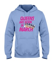 Queens Are Born in March Hooded Sweatshirt tile