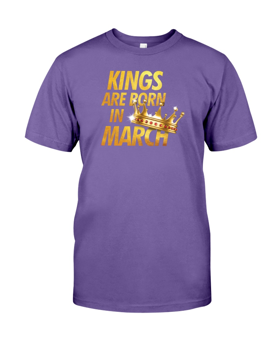 Kings Are Born in March Premium Fit Mens Tee