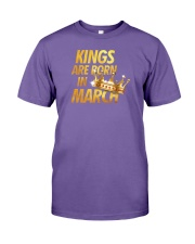 Kings Are Born in March Premium Fit Mens Tee front