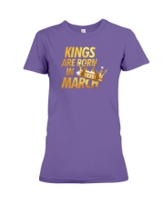 Kings Are Born in March Premium Fit Ladies Tee thumbnail