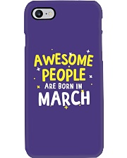 Awesome People Are Born In March Phone Case tile