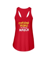 Awesome People Are Born In March Ladies Flowy Tank tile