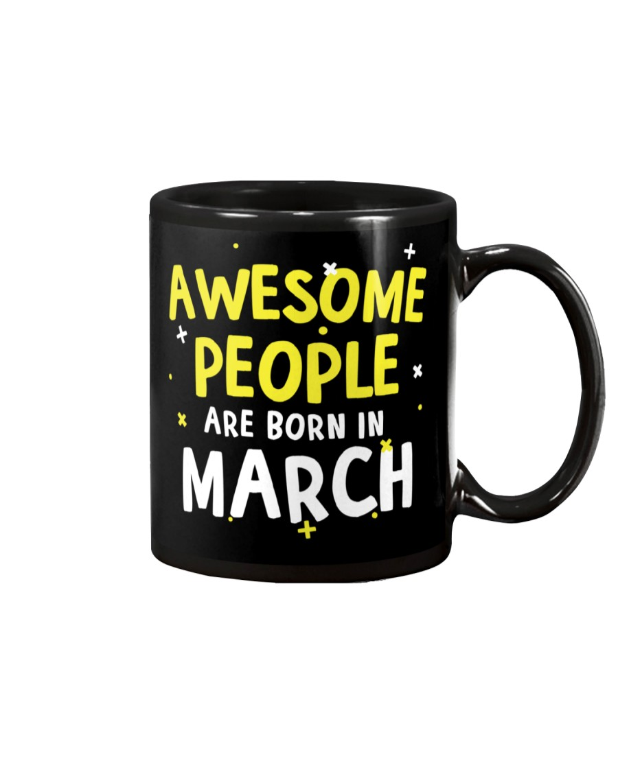 Awesome People Are Born In March Mug