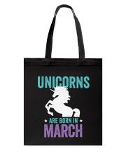 Unicorns Are Born in March Tote Bag thumbnail