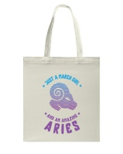 March Girl an Amazing Aries Tote Bag thumbnail