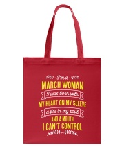 I'm a March Woman Tote Bag back