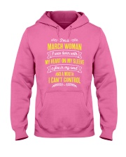 I'm a March Woman Hooded Sweatshirt thumbnail